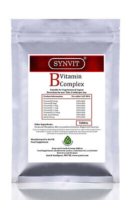 SYNVIT® Vitamin B Complex 100% RDA essential Vitamin B & Folic acid 120 Tablets