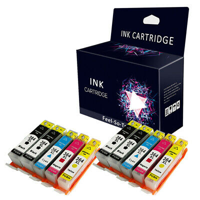10 Chipped Non-Oem Ink Cartridge Replace For 364 Printer - 2Sets+2Bk