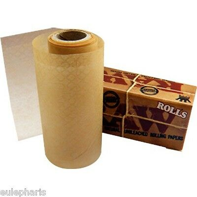 Caja RAW ROLLS -Rollo 3 metros PAPEL DE FUMAR NATURAL,GROW