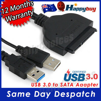 """USB 3.0 To SATA External Converter Adapter Cable For 2.5"""" HDD SSD SATA III"""