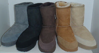 Sheepskin Ugg Boots - Unisex Mountain Boot - Heavy Duty Sole-All Colours & Sizes