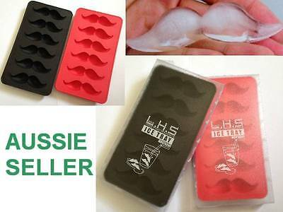 Moustache Mow Chocolate Ice Fondant Jelly Mold Mould Tray Novelty FUN Gift Party