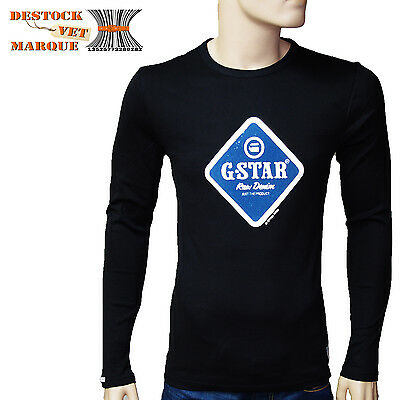 G-STAR RAW Tee shirt slim fit homme noir manches longues