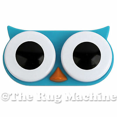 HOOT OWL CONTACT LENS CASE - Blue - Quirky, Stylish & Travel Safe **NEW**