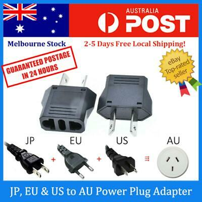 Japan JP / Europe EU / US to Australia AU AC Power Plug Adapter Travel Converter