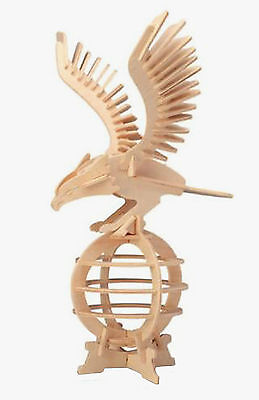 EAGLE 3D Jigsaw Realistic Wooden Model Construction Decorate Toy DIY Puzzle Gift