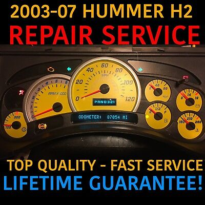 2003-07 GM Hummer H2 Speedometer Instrument Cluster Gauge REPAIR w LED