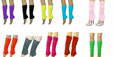 Ladies Leg Warmers girls Neon 80s Plain Colours Tutu Leg Warmers many teens