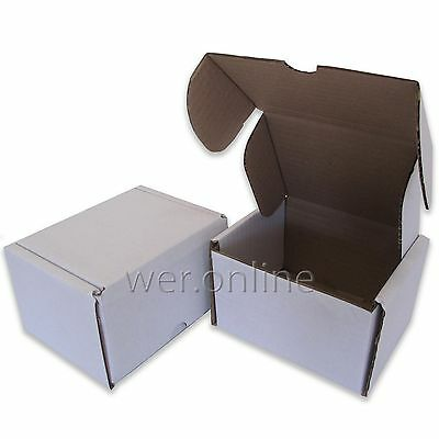 """White 5x4x3""""  Diecut Post Mailing Cardboard Boxes Single Wall Packaging Cartons"""