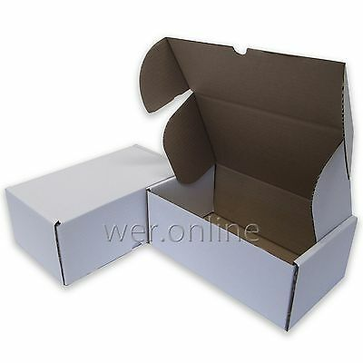 "White 12x10x4""  Diecut Post Mailing Cardboard Boxes Single Wall Packaging Carton"