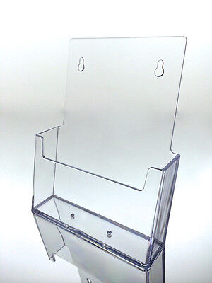 Brochure Holder 6 inch Booklet Wall-Mount , Bi-Fold USA