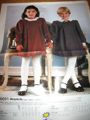Simplicity Childs Dress Pattern - Perfect For Holidays - 6