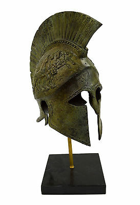 Bronze Helmet With Chariot Carvings Solid Great Helmet artifact