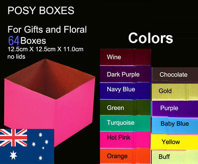 64X Posy Cardborad Gift and Flower Boxes 12.5X12.5X11cm