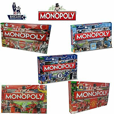 Monopoly Game Football Editions Choose From 5 Premier League Clubs & Barcelona