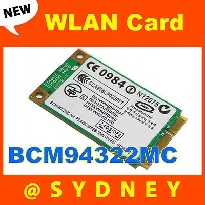 NEW Broadcom BCM94322MC BCM4322 802.11n Dual-Band Wireless WIFI WLAN Mini Card