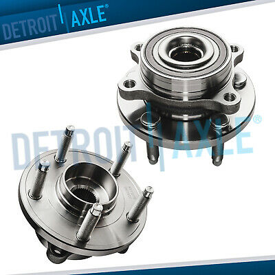 Set of (2) New Front Wheel Hub and Bearing Assemblies for Ford and Lincoln