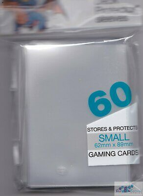 60 ULTRA PRO YUGIOH CARDFIGHT size DECK PROTECTORS **CLEAR** CARD SLEEVES