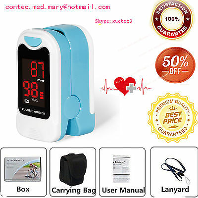 NEW Fingertip Pulse Oximeter Blood Oxygen Saturation SPO2 Monitor with Case SALE