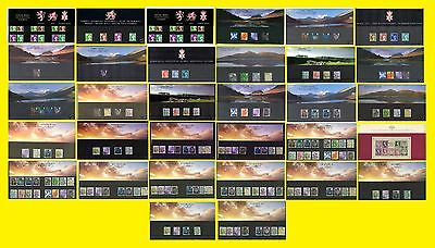 1996 to 2015 Regional Definitive Presentation Packs, each sold seperately Mint