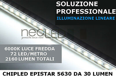 Barra LED 5630 1m luce FREDDA 72 LED kit completo sotto pensile LUMINOSISSIMA!