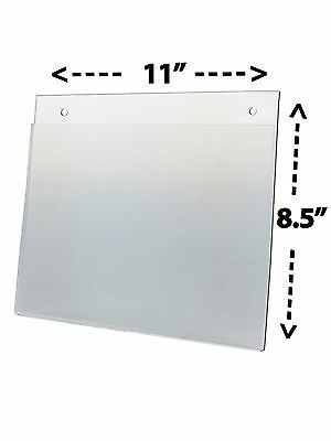 Wall mount 11 x 8.5 Landscape Sign Holder Display Frame Clear Premium Acrylic