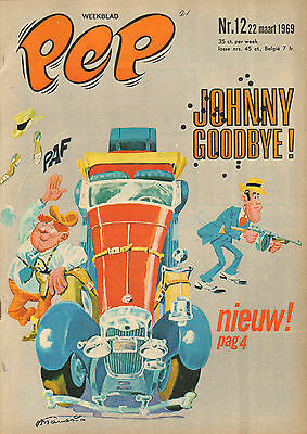 PEP 1969 nr. 12 - GLASGOW RANGERS (POSTER) /JOHNNY GOODBYE (COVER) / COMICS