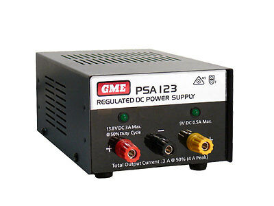 Gme 12 Volt Regulated 4 Amps Power Supply Psa123 For Home Base Uhf Setups