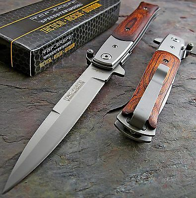 TAC-FORCE FAST Assisted Opening PAKKAWOOD Stiletto Speedster Knife Brand NEW!!!