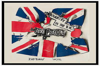 Johnny Rotten &  The Sex Pistols * Anarchy in the U.K. * Promo Poster 1976