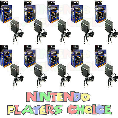 10 Ten LOT WHOLESALE NES SNES SUPER NINTENDO AC POWER SUPPLY ADAPTER CORDS NEW