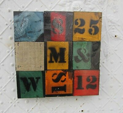"""9""""  Wall Art by Lori Daniels With Painted With Letters & Numbers"""