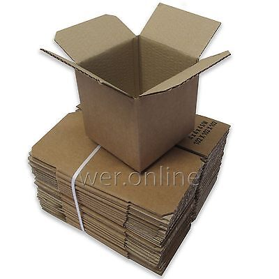 "4"" Cubed Postal Mailing Cardboard Boxes 4 x 4 x 4"" Single Wall - Various Sizes"