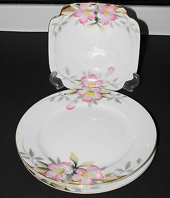 "NORITAKE AZALEA (1) SQ. LUNCH PLATE (SALAD) AND (3) 10"" DINNER PLATES"