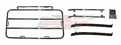 New MGB Classic Style Luggage Rack  1963-1980  High Quality Chrome with Hardware