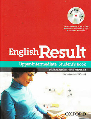 Oxford ENGLISH RESULT UPPER-INTERMEDIATE Student's Book with DVD @BRAND NEW@
