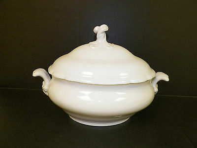 Hutschenreuther White Porcelain Tureen Serving Piece With Lid