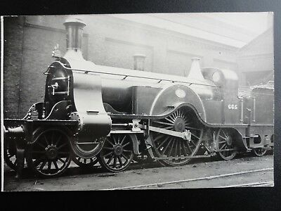GNR Steam Locomotive No.665 Great Northern Railway RP Photocard