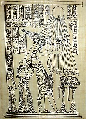 Paint Your Own Egyptian Papyrus * Art Designs on Genuine Papyrus with Paint Set