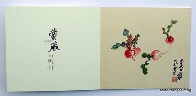 a set of 2 books Chinese flowers and vegetables painting by Zhang Daqian art