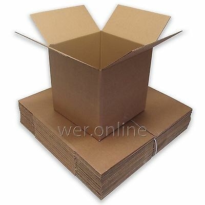 "12"" x 12 "" x 12""  Cubed Postal Mailing Cardboard Boxes Single Wall-Multi Listing"