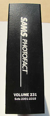 Sams Photofact Manual Binder, Volume 231, Sets 2301-2310, Electronic Schematics