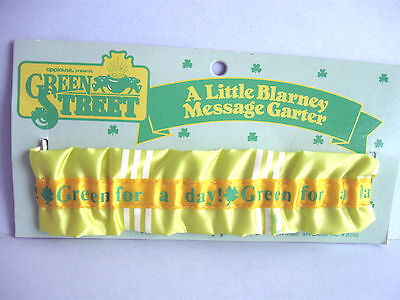 Green Street A Little Blarney Message Center St Patricks elastic garter 12 inch