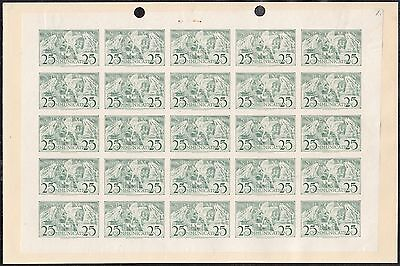"AMERICAN BANK NOTE Co. SPECIMEN 25¢ SHEET OF 25 ""COMMUNICATION"" UNIQUE WL4718"