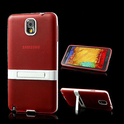 Stand Gel TPU Case Cover For Samsung Galaxy Note III, Note 3, N9000 N900A