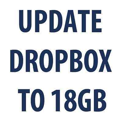 Dropbox guide + free update Your current Dropbox account to 18GB as a gift!