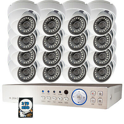 16Ch Channel High Definition Business Office CCTV Security Camera System 2TB HDD
