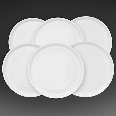 "White Italian Porcelain Pizza Plate 13"" Made in Italy. 1 Case, 6 dishes."