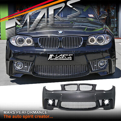 1M Style Front Bumper Bar with Fog Lights for BMW 1 Series E81 E82 E87 E88