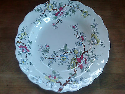 "Booths Chinese Tree soup dish 8.75"" reg no A8001 rimmed dish another"